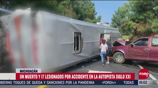 accidente en autopista siglo 21 deja un muerto y 17 lesionados