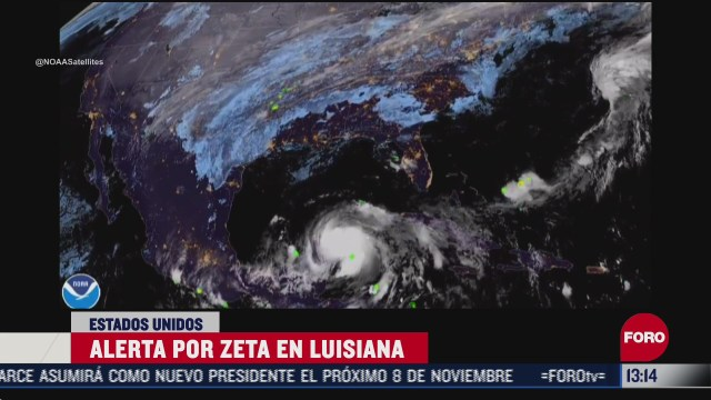activan alerta en luisiana por huracan zeta