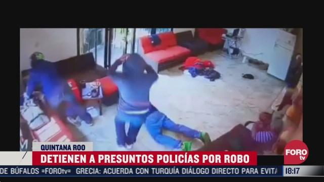 acusan a policias de q roo de asalto en un negocio