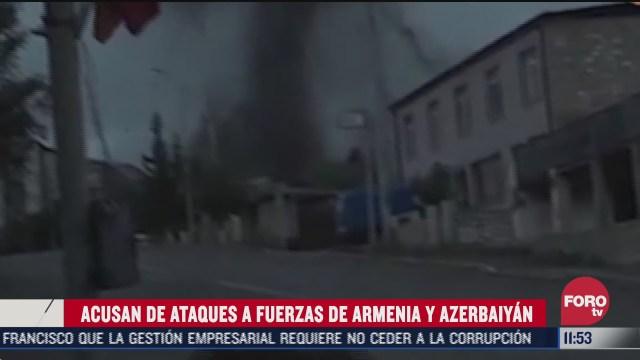 acusan de ataques a fuerzas de armenia y azerbaiyan