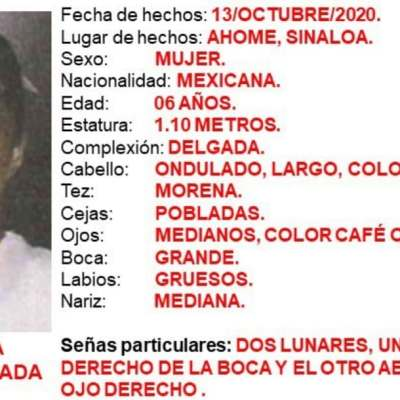 Activan Alerta Amber para localizar a Isabella Parra Ahumada