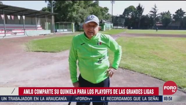 amlo comparte quiniela playoffs de grandes ligas de beisbol