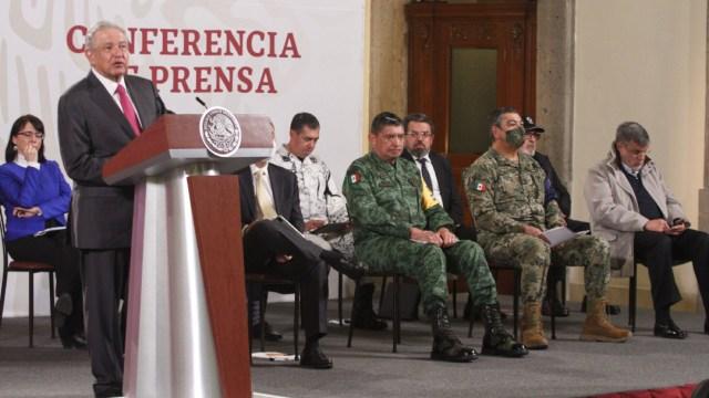 Andrés Manuel López Obrador, presidente de México, durante la conferencia matutina enfocada al tema de seguridad
