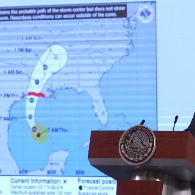 Huracán 'Delta' deja saldo blanco en Quintana Roo y Yucatán, destaca AMLO