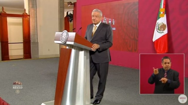 El presidente de México, Andrés Manuel López Obrador, en conferencia de prensa desde Palacio Nacional.