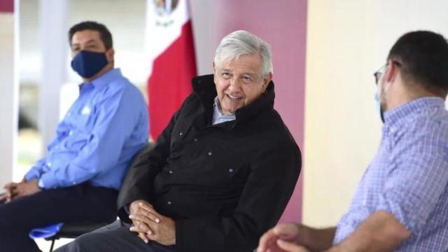 El presidente López Obrador acortó un discurso en Nuevo Laredo ante la presencia de simpatizantes y críticos de su gobierno