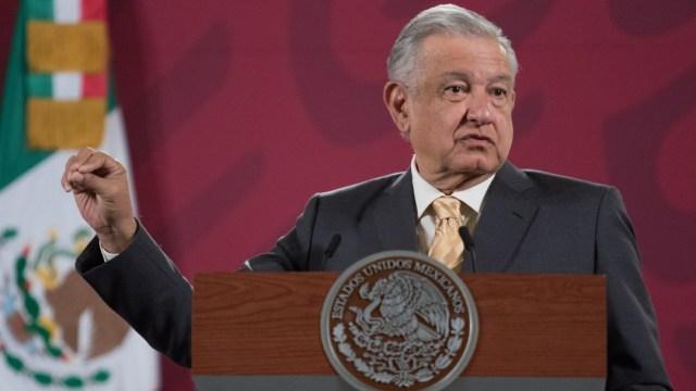 El presidente de México, Andrés Manuel López Obrador, en conferencia de prensa desde Palacio Nacional