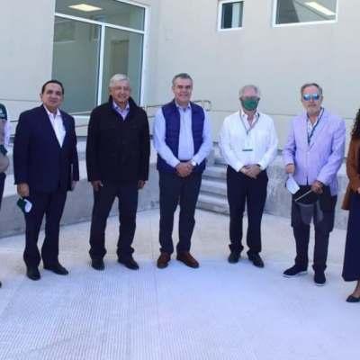 Inaugura AMLO Hospital del IMSS en Acuña