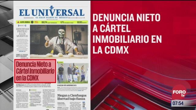 analisis de las portadas nacionales e internacionales del 21 de octubre del