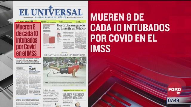 analisis de las portadas nacionales e internacionales del 22 de octubre del