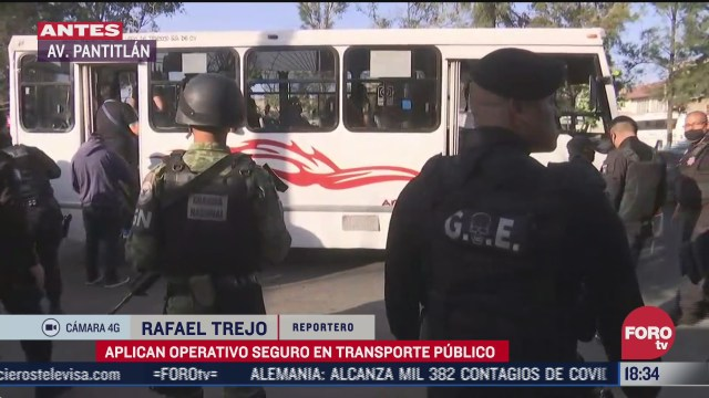 aplican operativo seguro en transporte publico en nezahualcoyotl