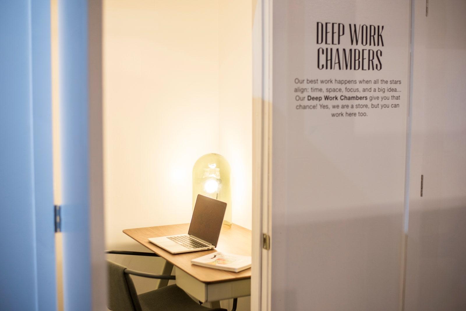 Fotografía de los espacios de trabajo profundo