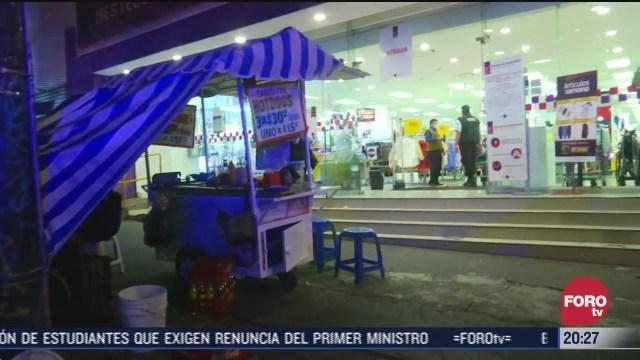 Hombres armados asaltaron suburbia, una tienda departamental en la zona de Tacubaya; no hay detenidos