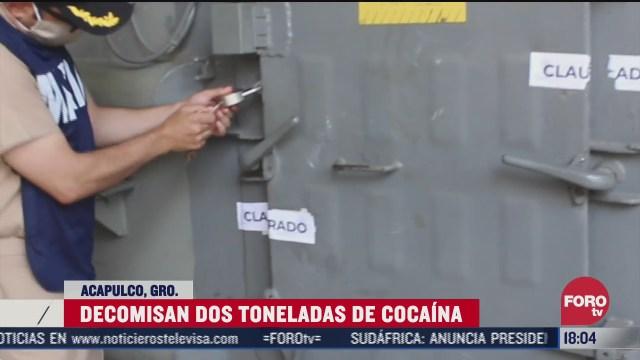 aseguran dos toneladas de cocaina que flotaba en el mar de acapulco
