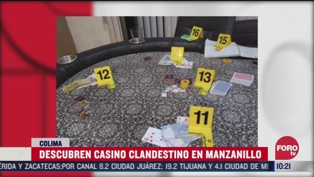 aseguran drogas y dinero en casino clandestino en manzanillo colima