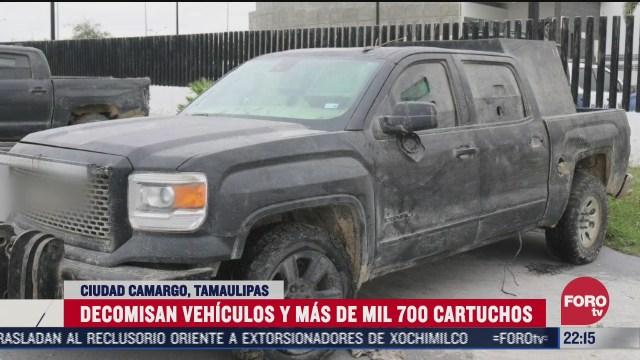 aseguran vehiculos con blindaje artesanal en tamaulipas