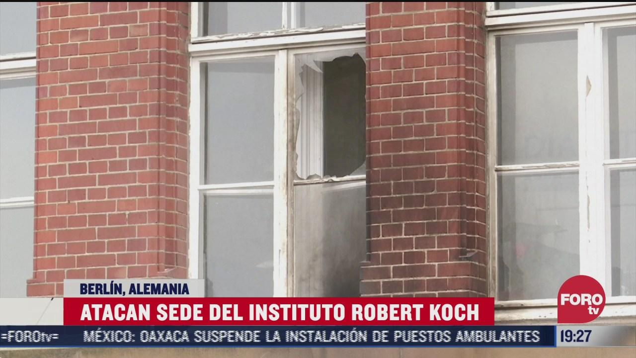 atacan instituto koch en alemania