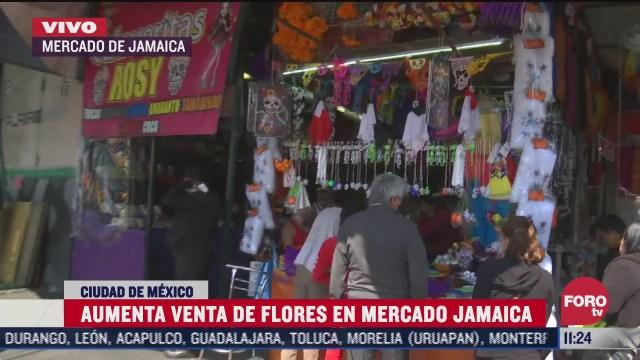 aumenta venta de flores en mercado de jamaica