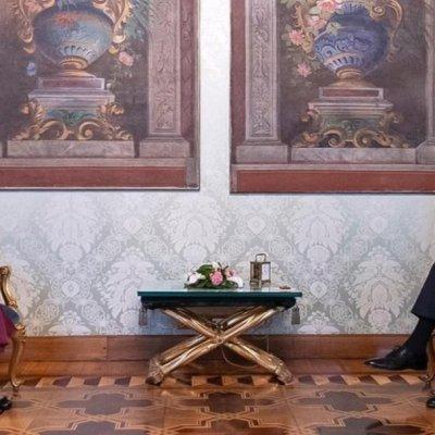 Beatriz Gutiérrez Müller, esposa de AMLO, se reúne con el presidente de Italia