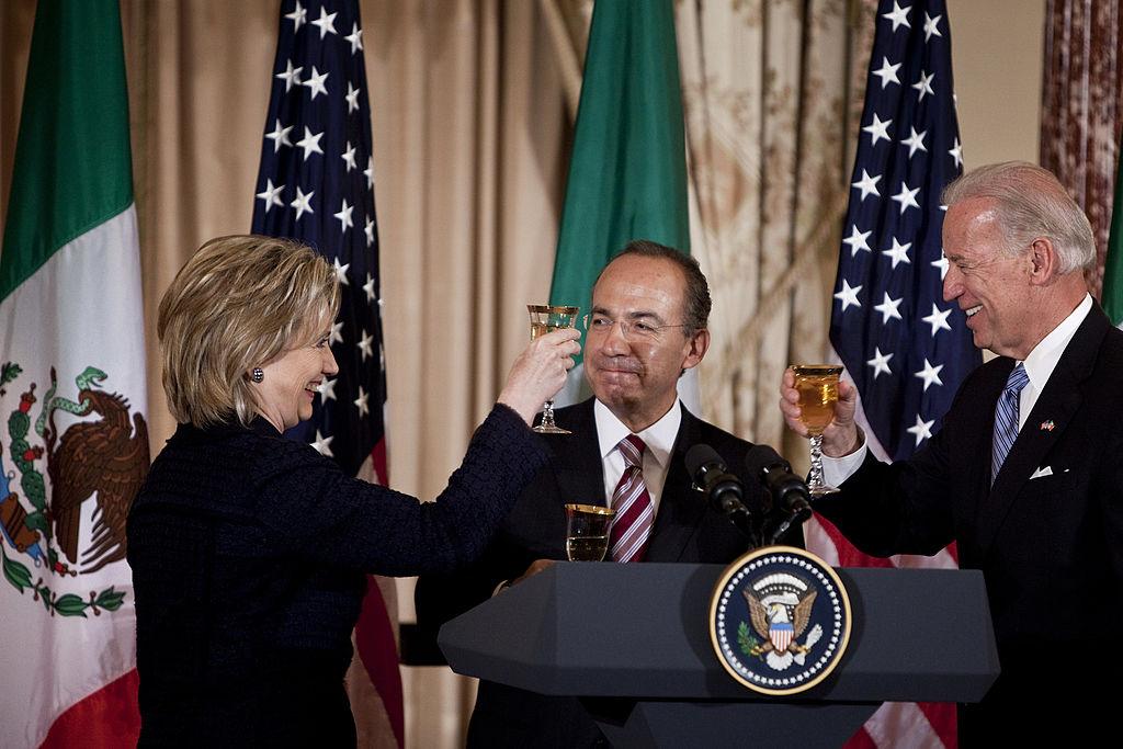 Felipe Calderón, Joe Biden, Hillary Clinton, relación bilateral