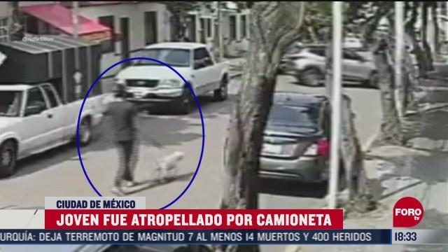 camioneta atropella a joven que paseaba a su perro en la venustiano carranza