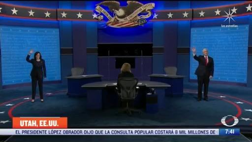 candidatos a vicepresidencia de eeuu expresan posturas en debate