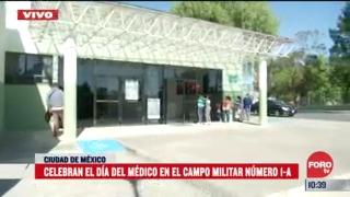 celebran el dia del medico en el campo militar numero 1 a