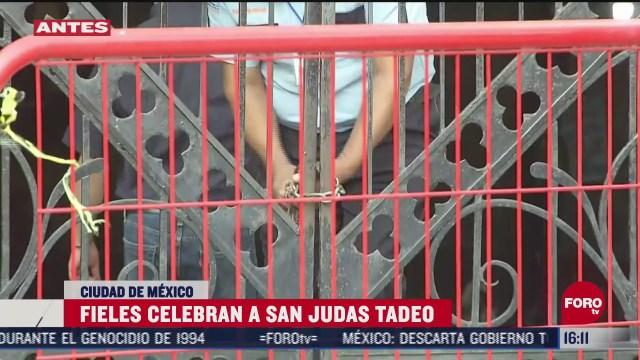cierran iglesia de san hipolito tras celebracion a san judas tadeo