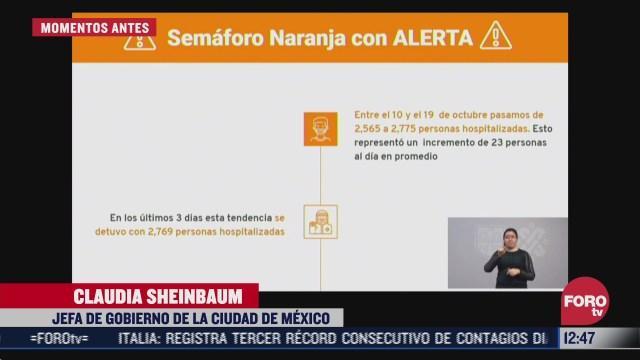 ciudad de mexico continua en semaforo naranja por covid