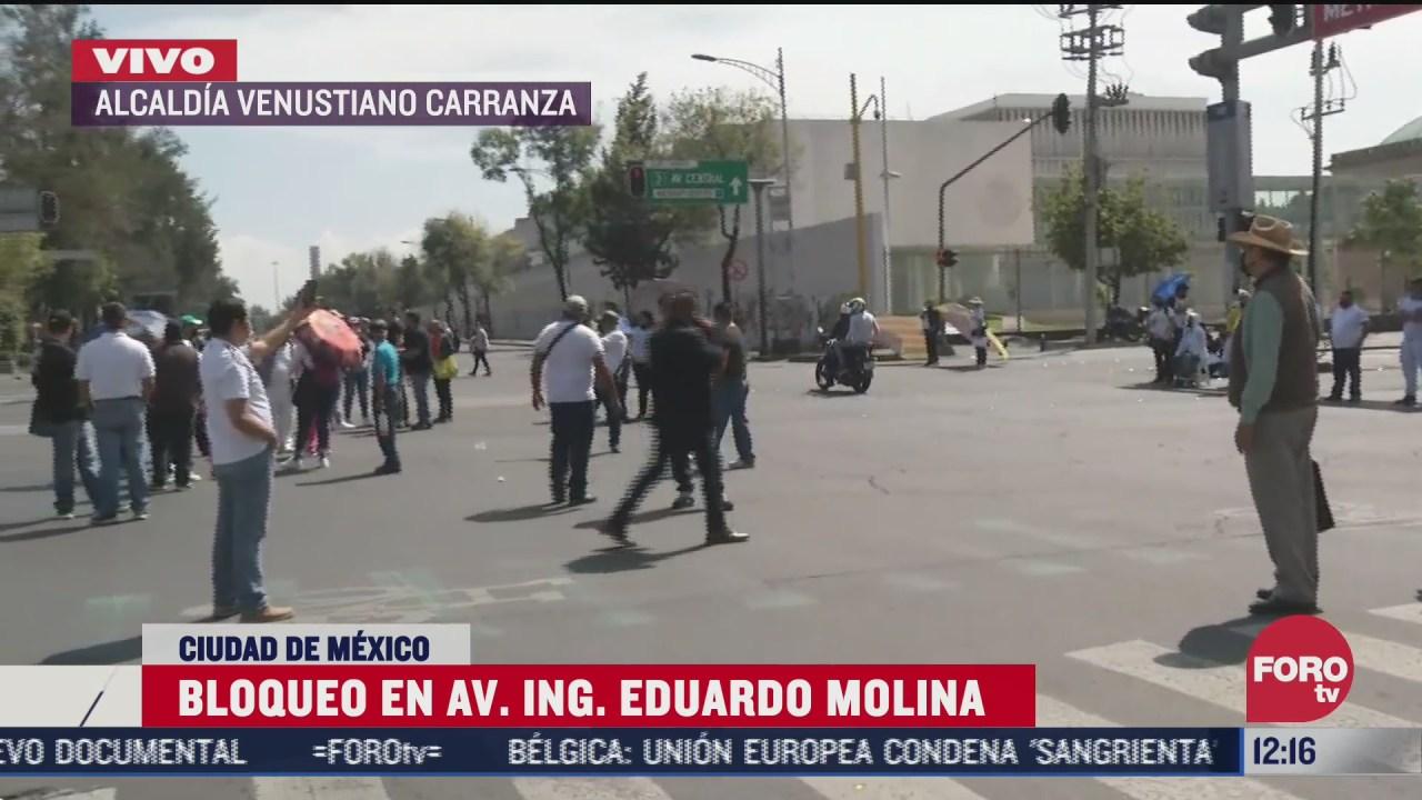 comerciantes bloquean avenida ingeniero eduardo molina cdmx