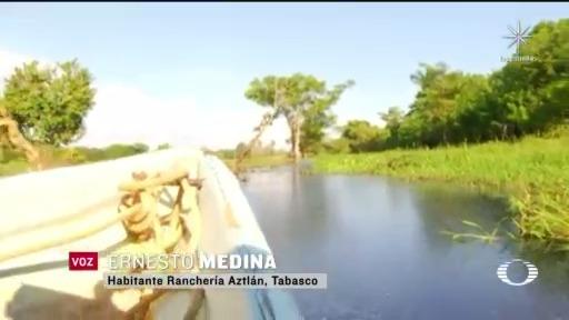 comunidades de tabasco continuan afectadas por fenomenos meteorologicos