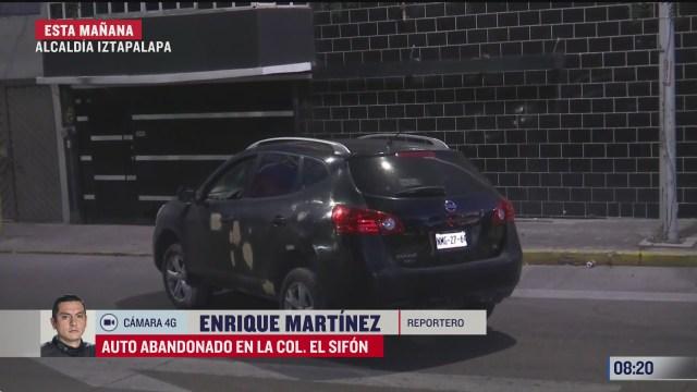 conductor borracho choca y abandona su coche en iztapalapa