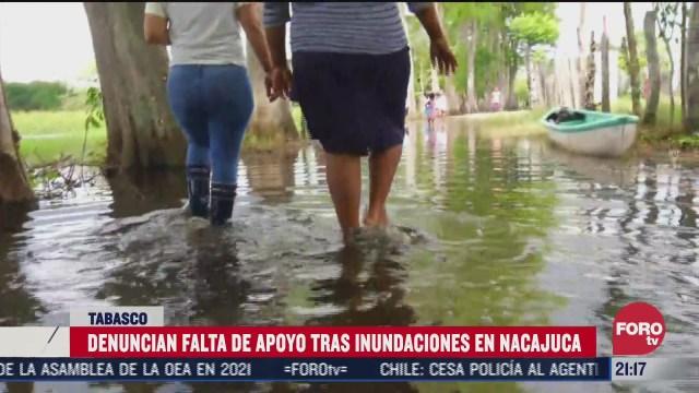 Habitantes de Tabasco denuncian falta de apoyo tras inundaciones del huracán Delta