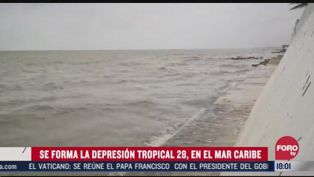 depresion tropical 28 se forma en el mar caribe