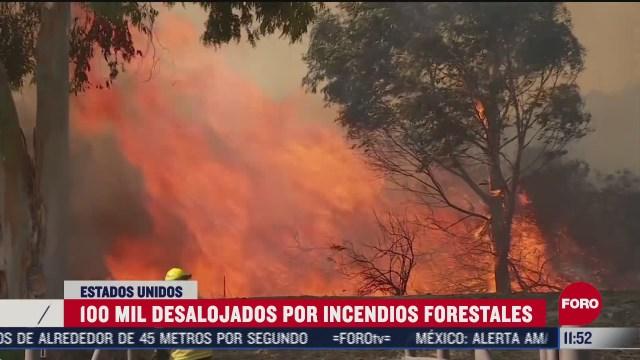 desalojan a personas por incendios forestales en california