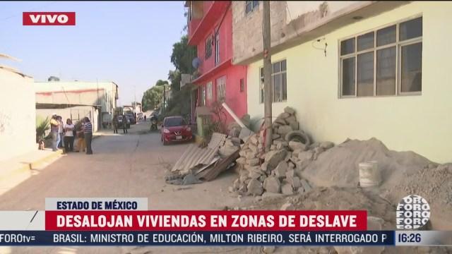 desalojan viviendas en zonas de deslave en ecatepec