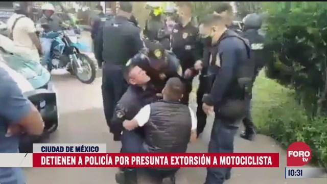 detienen a policia por presunta extorsion a motociclista