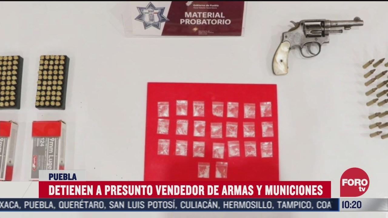 detienen a sujeto con armas y droga en caxhuacan puebla