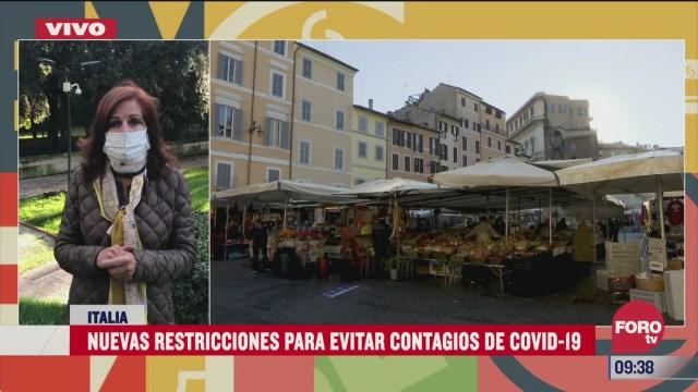 establecen nuevas restricciones para evitar contagios de covid 19 en italia