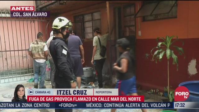 fuga de gas provoca flamazo en la alcaldia azcapotzalco