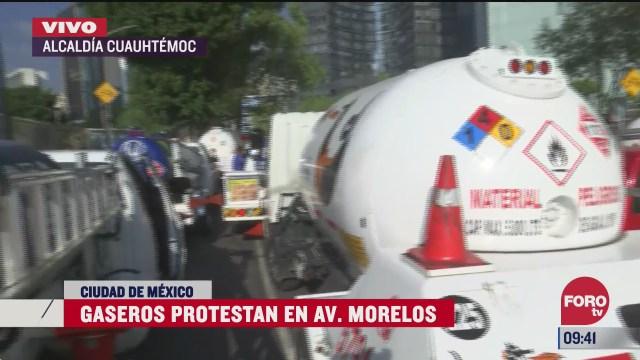 gaseros protestan en alcaldia cuauhtemoc