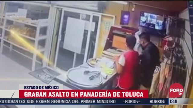 graban asalto a una panaderia en toluca estado de mexico