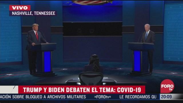 inicia ultimo debate presidencial entre trump y biden