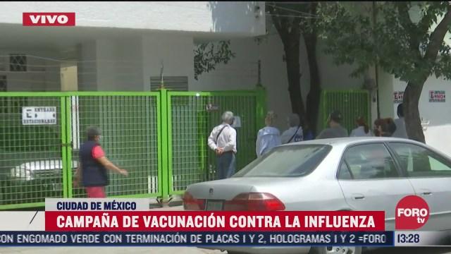 inicia vacuna contra la influenza en cdmx