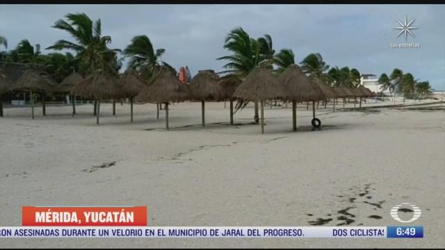 la peninsula de yucatan continua con lluvias intensas