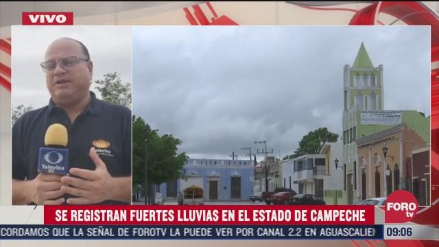 lluvias afectan gran parte del estado de campeche
