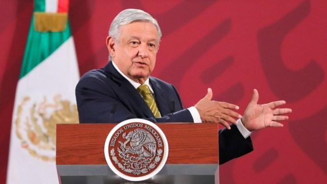 López Obrador en conferencia matutina en Palacio Nacional