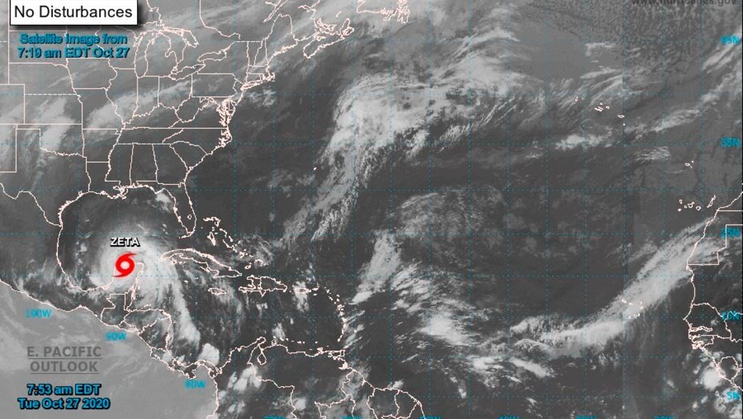 Mapa satelital de la tormenta Zeta