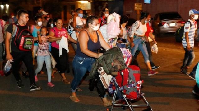 Migrantes hondureños se dirigen a EU