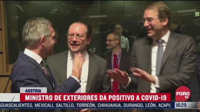 ministro de exteriores de austria da positivo a covid